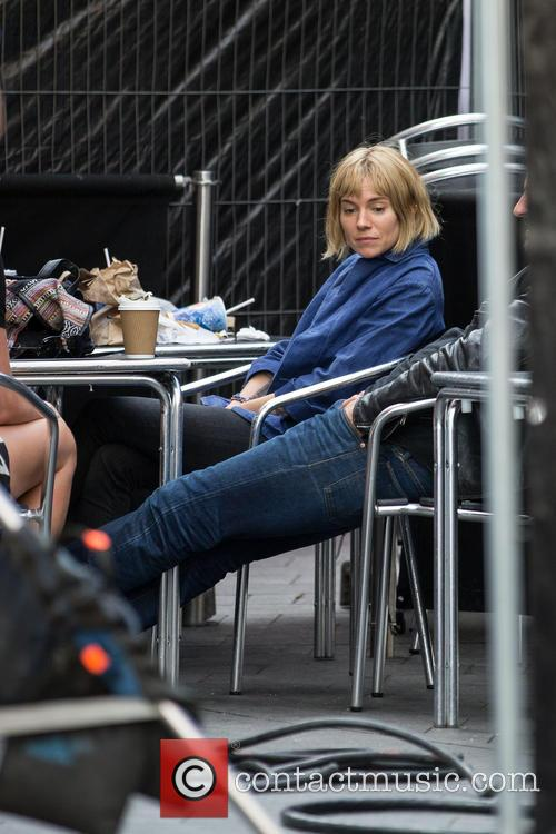 Sienna Miller on the set of her new...
