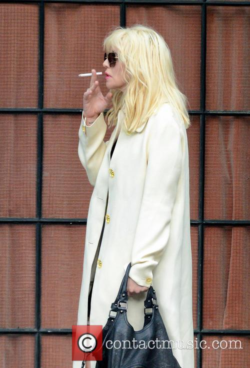 Courtney Love leaves her hotel in NYC