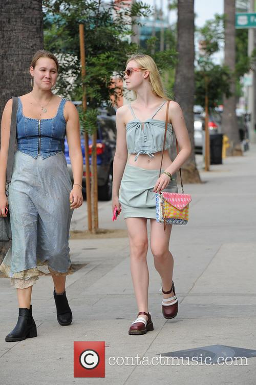 Elle Fanning out and about