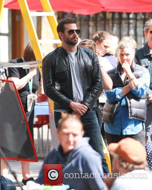 Bradley Cooper filming scenes for 'Adam Jones'
