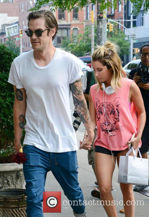 Ashley Tisdale and fiance Christopher French shopping