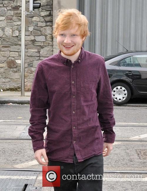Ed Sheeran meets fans during a radio promo...