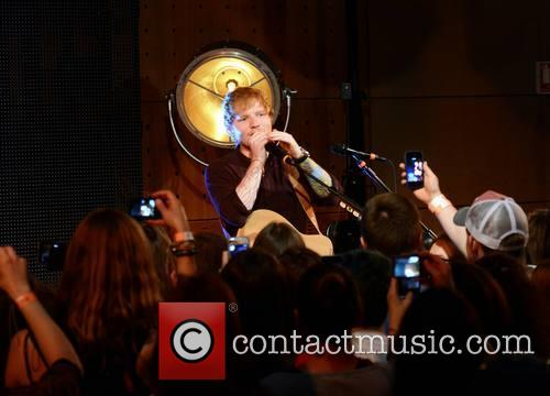 Ed Sheeran performs an intimate gig