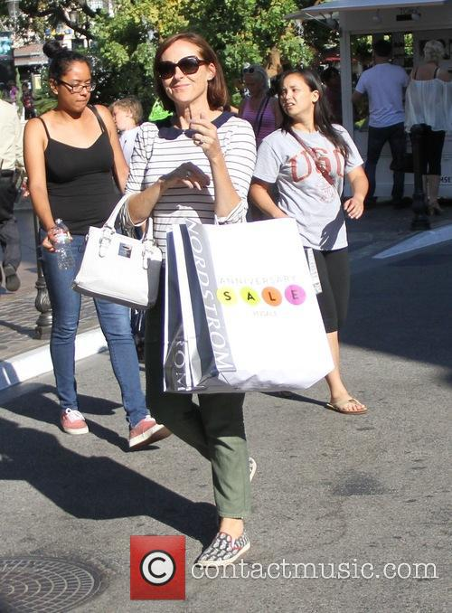 Molly Shannon goes shopping at the Grove in...