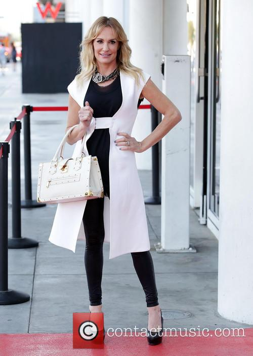 TV personality Taylor Armstrong arrives at Hollywood Today...