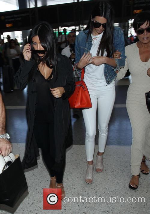 Kardashians at Los Angeles International Airport