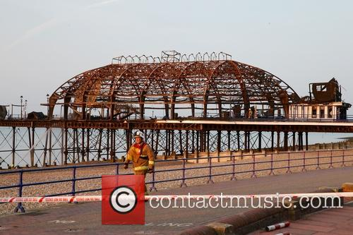 Morning after scene of the remains of Eastbourne...