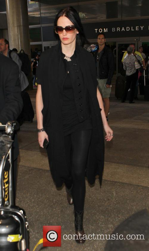 Eva Green arrives at Los Angeles International (LAX)...