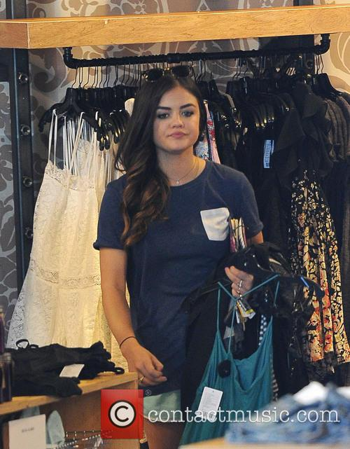 Lucy Hale spotted shopping at Urban Outfitters