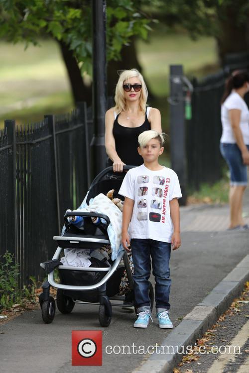 Gwen Stefani enjoys a day in the park...