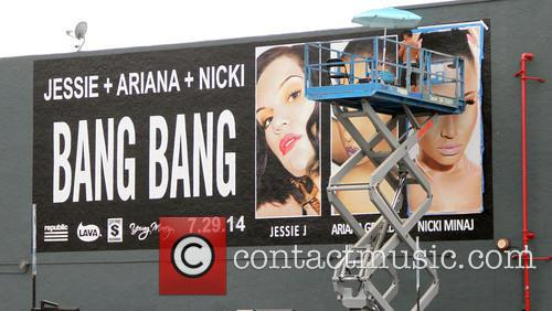A billboard is put up in Hollywood promoting...