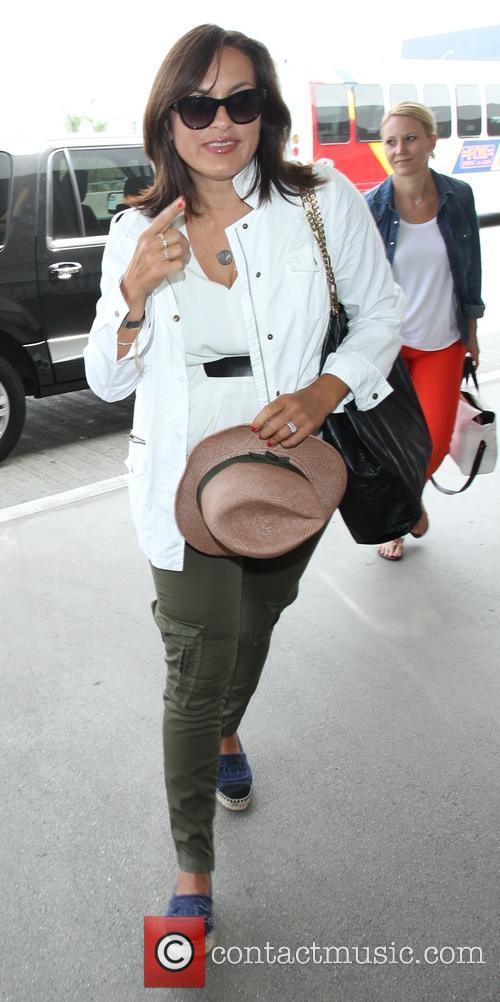 Mariska Hargitay arrives at Los Angeles International (LAX)...