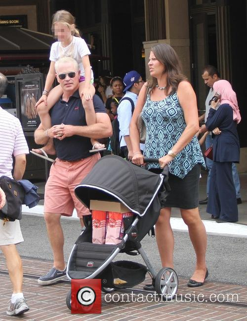 Neal McDonough shops at The Grove