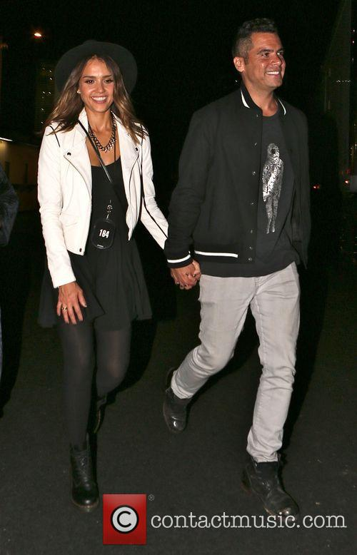 Jessica Alba and Cash Warren leave Rose Bowl