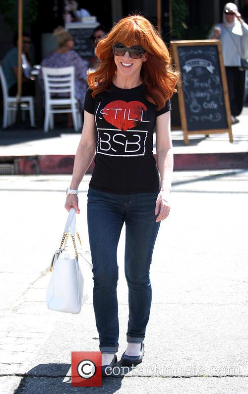 Kathy Griffin leaving Toast Bakery Cafe