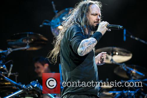 Korn performs at the Rockstar Mayhem Festival