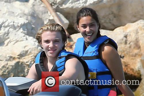 Rocco Ritchie and Lourdes Leon seen jet skiing
