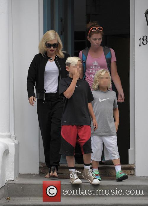 Kingston Rossdale, Gwen Stefani and Zuma Rossdale 3