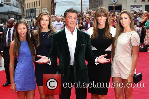 Sylvester Stallone, Wife and Daughters 2