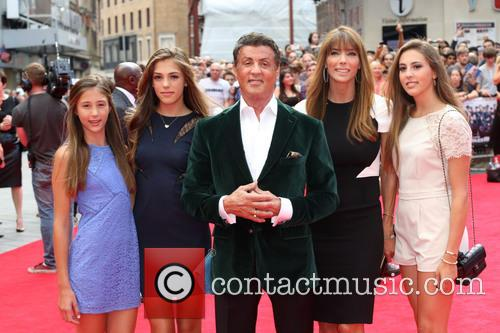 Sylvester Stallone, Wife and Daughters 3