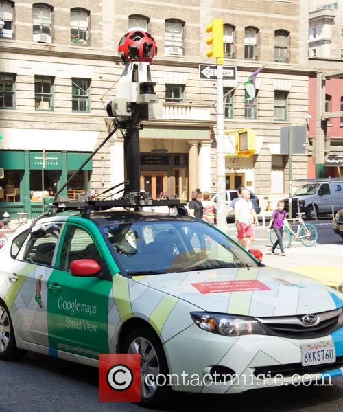Google's Street View car out and about in...