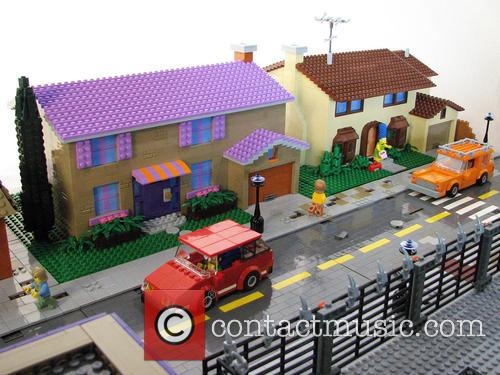 Iconic Simpson's town of Springfield recreated in LEGO