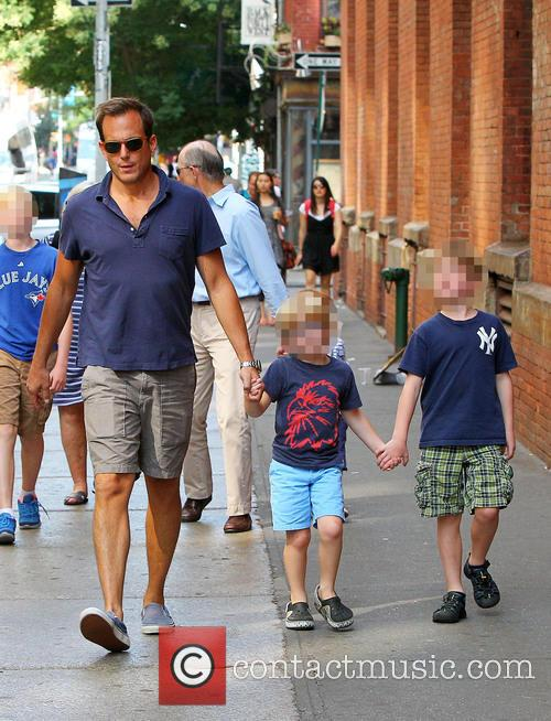 Will Arnett out and about with his son