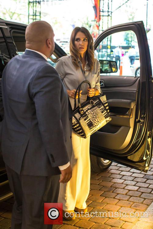 Jessica Alba seen leaving her hotel