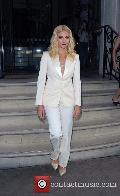 Pixie Lott arriving at the Langham Hotel