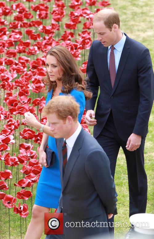 Prince William, Duke Of Cambridge, Catherine, Duchess Of Cambridge and Prince Harry 1