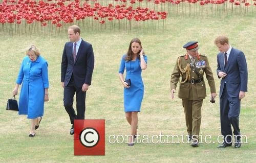 The Duke and Duchess of Cambridge with Prince...