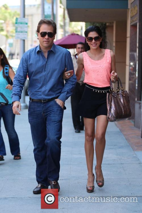 Joyce Giraud shops for sunglasses with her husband...