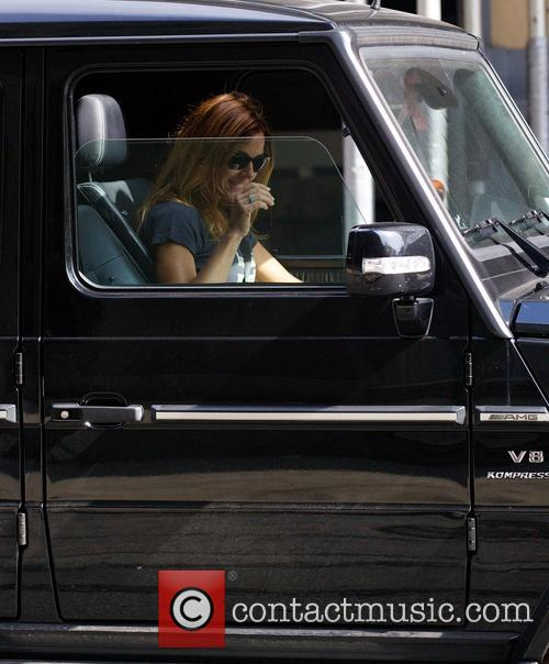 Kelly Bensimon spotted driving her Jeep in Soho
