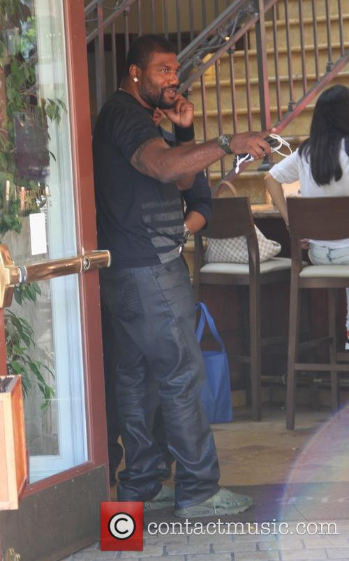 Quinton Jackson grabs lunch at The Grove