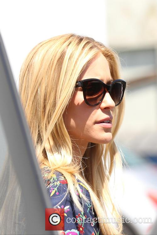 Kristin Cavallari leaving Fig & Olive