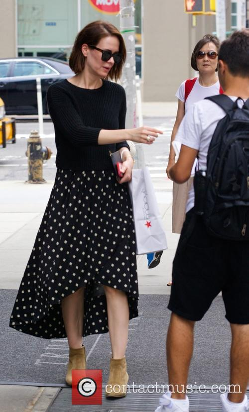 Sarah Paulson seen in Soho