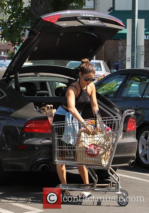 Vanessa Hudgens shops at Whole Foods