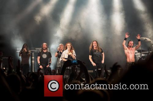 Epica, Simone Simons, Mark Jansen, Isaac Delahaye, Rob Van Der Loo, Coen Janssen and Ariën Van Weesenbeek