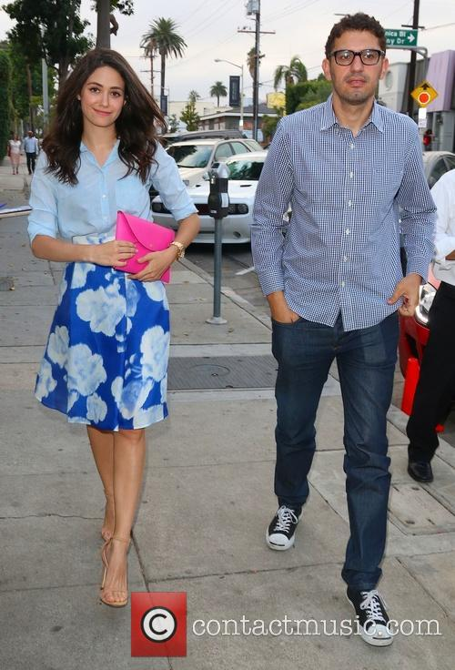 emmy rossum sam esmail emmy rossum arrives at 4318978