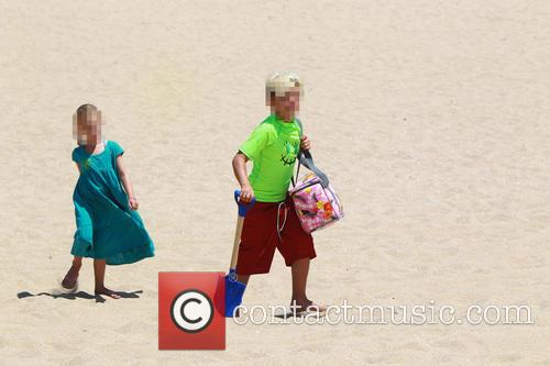 Gwen Stefani and family at Newport Beach