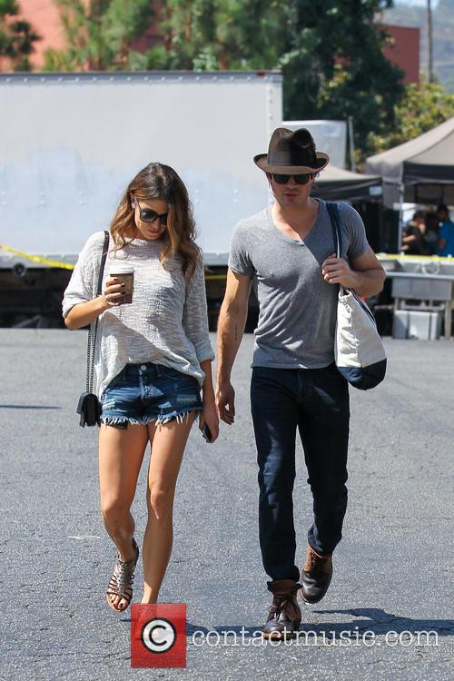 Ian Somerhalder and girlfriend Nikki Reed shopping