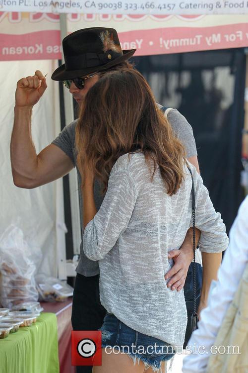 Ian Somerhalder and girlfriend Nikki Reed shopping