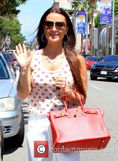 Kyle Richards out on Brighton Way in Beverly...