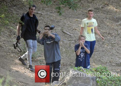 Madonna on a family holiday near Cannes