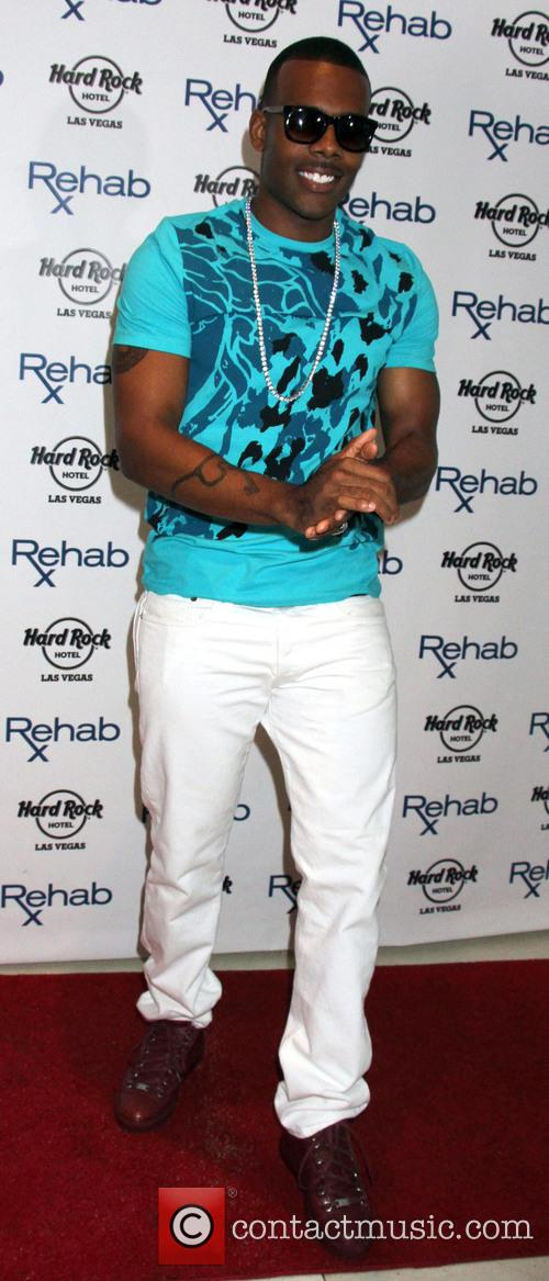 R&B singer Mario at Rehab Pool