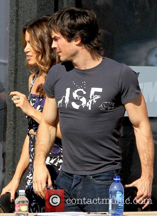 New couple Ian Somerhalder and Nikki Reed at...