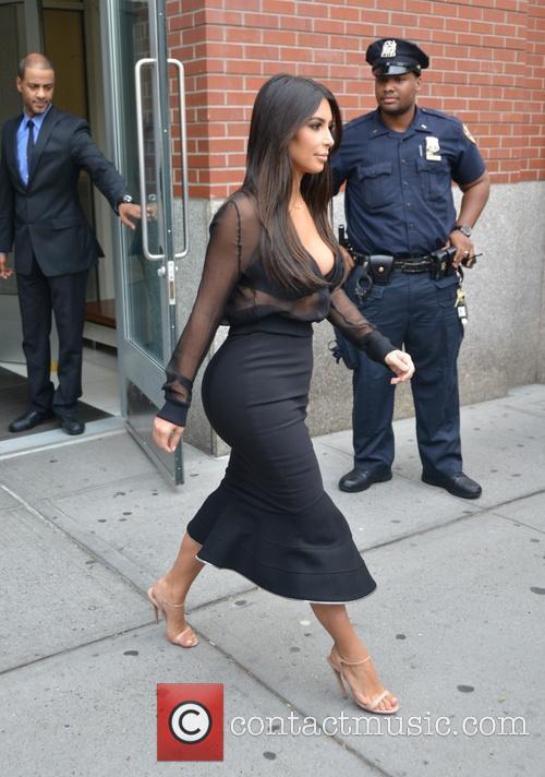 Kim Kardashian on her way to SiriusXM Radio
