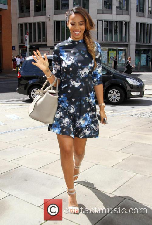 The Saturdays arrive at BT Sport's London offices