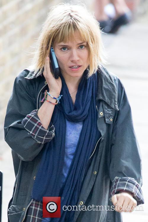 Sienna Miller films a scene for her new movie 'Adam Jones'