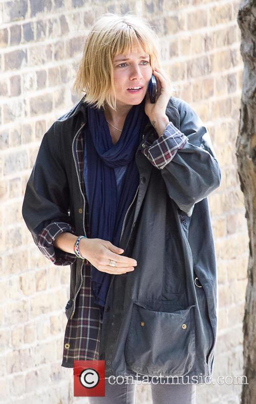 Sienna Miller films a scene for her new movie 'Adam Jones'